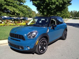 Surf Blue Mini Cooper