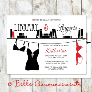 Bridal Shower Library and Lingerie Party