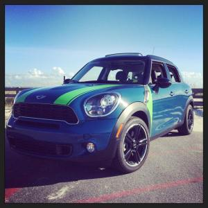 Mini Cooper Green Racing Stripes