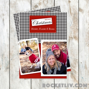 houndstooth christmas card