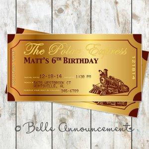 Polar Express Birthday Invitations