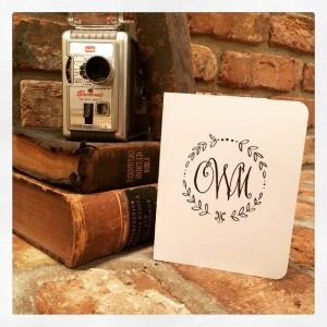 monogram notecards